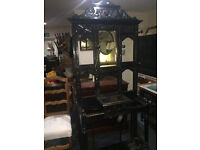 Outstanding Unique Large Antique Victorian Carved Solid Oak Decorative Hall Coat Stand
