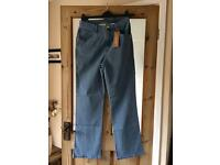 M&S wide leg long length jeans size 12 BNWT