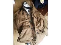 men's XL winter coat beige excellent condition