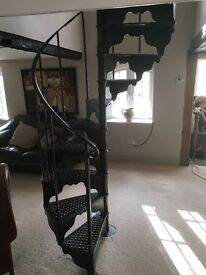 Victorian metal curved stairs no damage