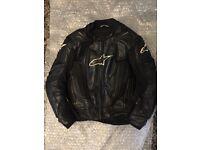 Alpinestars RC1 leather jacket size eu50