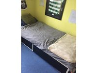 FREE SINGLE IKEA BED WITH 2 DRAWRS