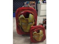 Iron man kids suitcase carry on