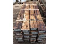 RECLAIMED 'GRADE A' 2600 X 250 X 150MM RAILWAY SLEEPERS.