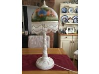 Ceramic table lamp, Tiffany style ,