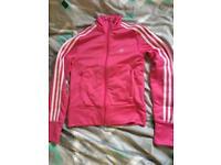 Pink Adidas zip up top