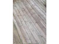 Used decking, 12 - 12.5 meters squared