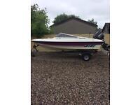 (Boat )Fletcher Arrowflash bravo 15 speedboat with Mercury 75hp engine for sale
