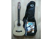 3/4 size Classical Guitar with TKL case and learn to play book with CD/DVD