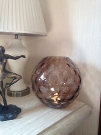 Lovely smoked glass bowl / vase