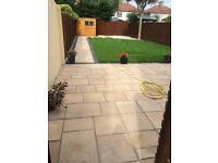 Indian sandstone and limestone paving slabs