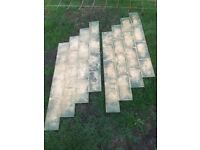 Imprinted concrete cobble mats x2
