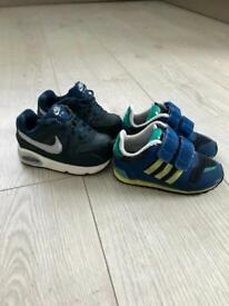 Boys toddler size 5.5 trainers, Nike and Adidas