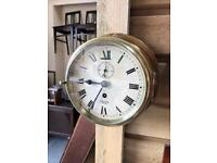 Fabulous Smiths Empire solid brass vintage ships clock in perfect working order