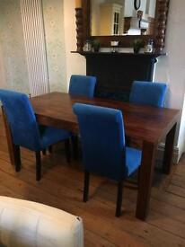 Dakota Mango Six Seater Dining Table and chairs.