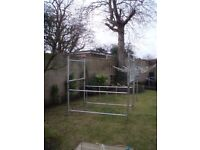 scaffold tower for sale , vgc , 6x4 , no rust , outriggers , wheels , a feet , boards