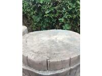 Concrete log effect stepping stones