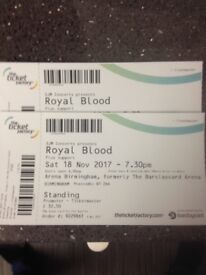 2x royal blood standing tickets Birmingham sat 18th November