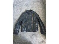Girls leather effect jacket age 8-9