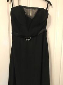 Long black cocktail dress