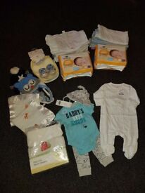 brand new bundle of 0/3 clothes nappys