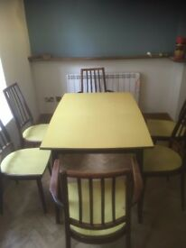 Matching Retro Dining Table and Chairs (Mid century?)