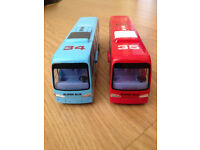Rare red and blue Bus transformers