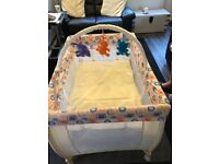Baby and Toddler unisex travel cot in very good condition