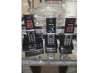 Panasonic triple phone set with answer machine