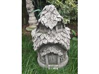 Stone garden fairy door house, fantastic detail. New