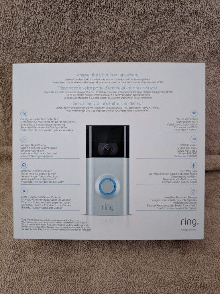 RING VIDEO DOORBELL 2 Motion Detection, 1080 HD Video, Two Way Talk, Wi-Fi