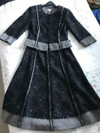 Phase Eight Black Lace Skirt Suit, Size 8
