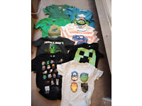 Bundle of clothes for Boy 5-6 years incl. Minecraft, Avengers Heroes in new very good and good cond.