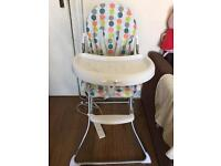 High chair, hardly used, very good condition