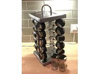 Revolving glass spice rack