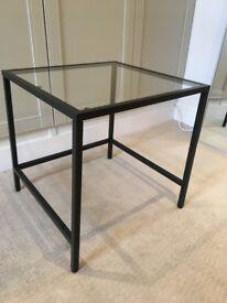 IKEA Glass top side table