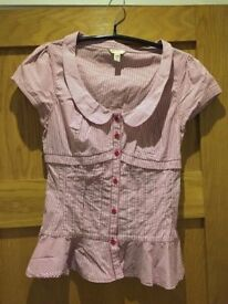 ~~## Ted Baker Red/White Strip shirt: Ted Size 2 ##~~