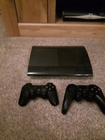 Slimline PS3 console with 5 games