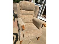 Quality almost new fireside chair