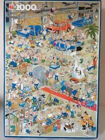 1000 piece Comic Puzzle by Jan Van Haasteren