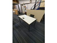 Royale off white office computer desk tables £90 each