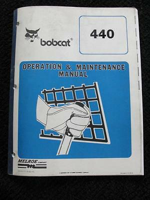 Orignal Bobcat 440 Skid Steer Loader Tractor Operators Maintenance Manual Nice
