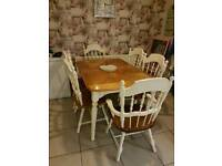 Shabby chic kitchen table 6 chairs