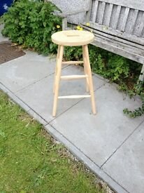 Old School Tall Elm And Beech Lab Stool