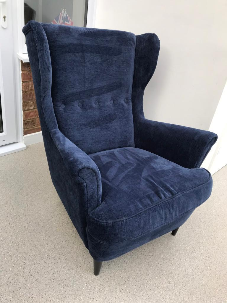 Blue Wing Chair Ikea Strandmon In Tunbridge Wells Kent