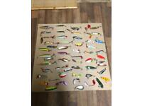 Fishing spoons and spinners ( 55) in total