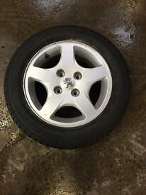 Peugeot 206 alloy wheels set 4 all with good tires