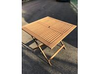 Square Wooden folding Garden Table