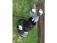 FULL golf club set, inc. bag, drivers and shoes