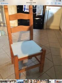 4 solid Beech chairs